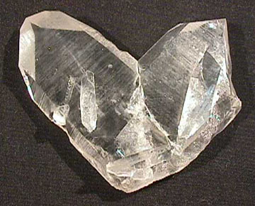 This a photo of a crystal twin.
